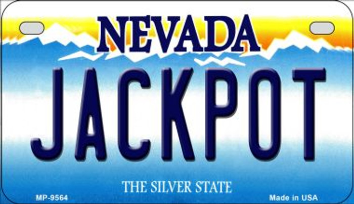 Jackpot Nevada Novelty Metal Motorcycle Plate MP-9564