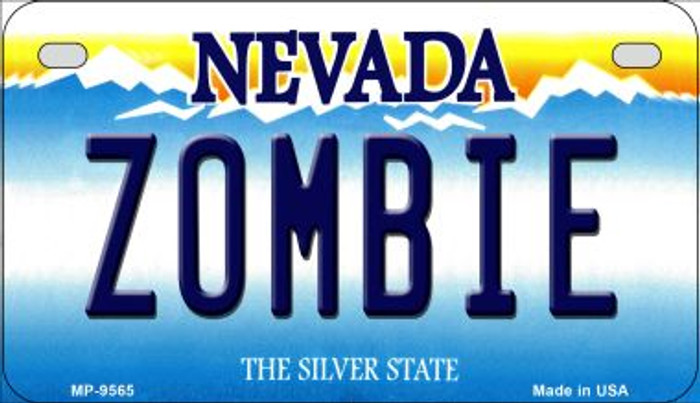 Zombie Nevada Novelty Metal Motorcycle Plate MP-9565