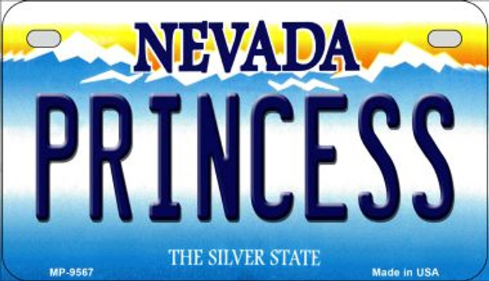 Princess Nevada Novelty Metal Motorcycle Plate MP-9567