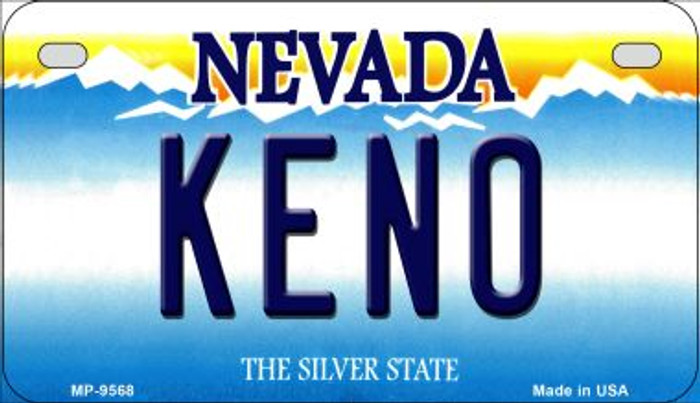 Keno Nevada Novelty Metal Motorcycle Plate MP-9568