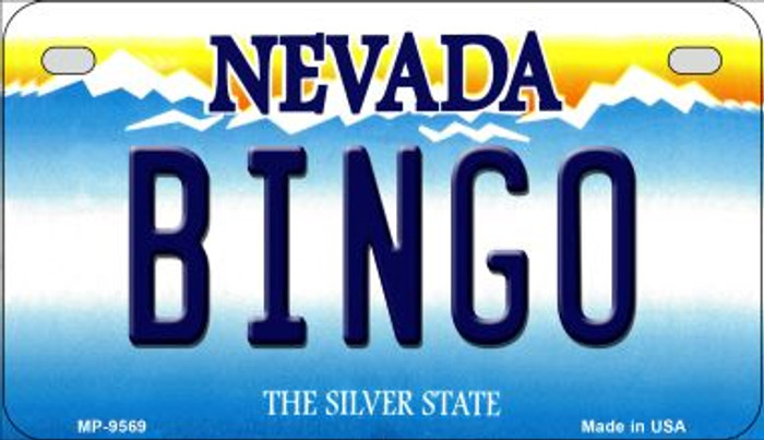 Bingo Nevada Novelty Metal Motorcycle Plate MP-9569