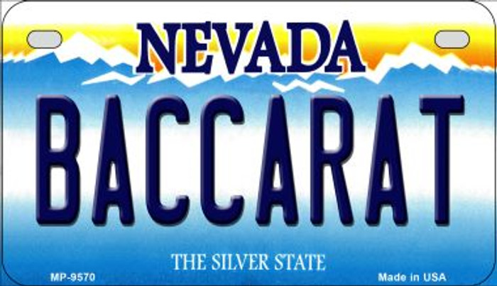 Baccarat Nevada Novelty Metal Motorcycle Plate MP-9570