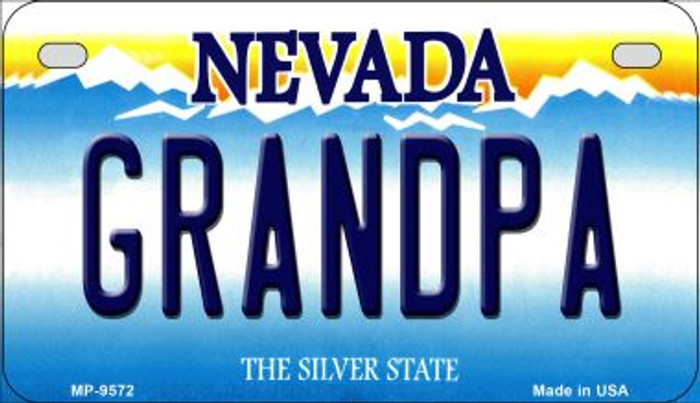 Grandpa Nevada Novelty Metal Motorcycle Plate MP-9572
