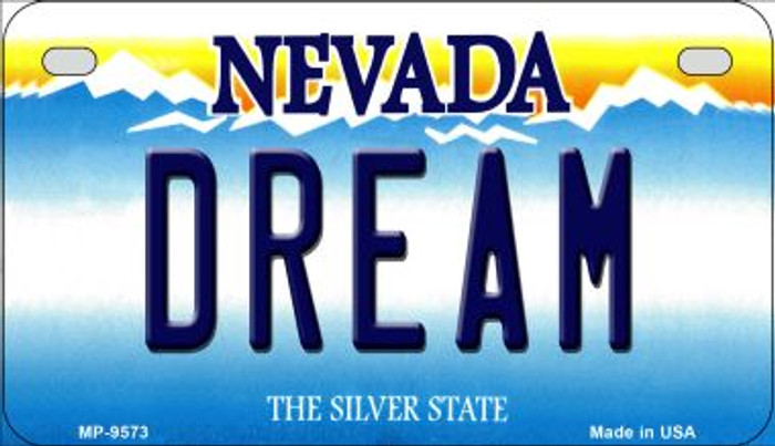 Dream Nevada Novelty Metal Motorcycle Plate MP-9573