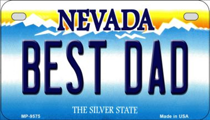 Best Dad Nevada Novelty Metal Motorcycle Plate MP-9575