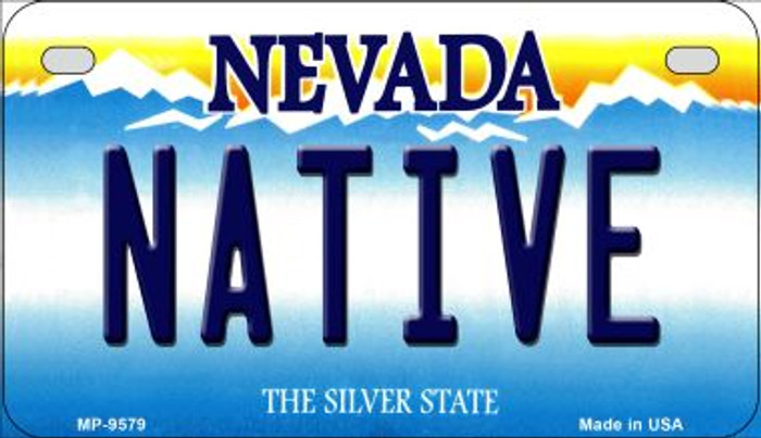 Native Nevada Novelty Metal Motorcycle Plate MP-9579
