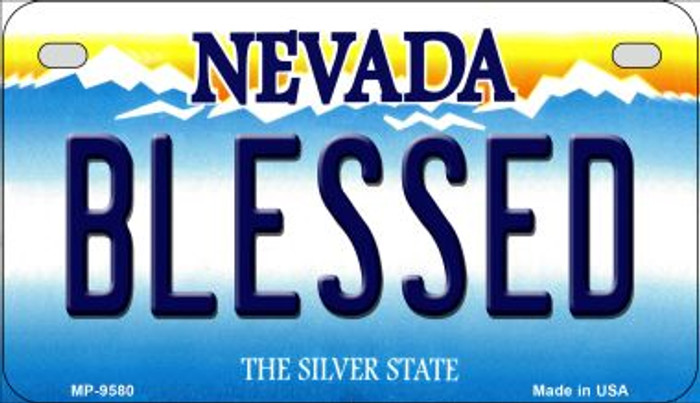 Blessed Nevada Novelty Metal Motorcycle Plate MP-9580