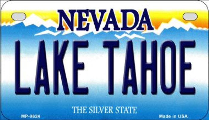 Lake Tahoe Nevada Novelty Metal Motorcycle Plate MP-9624