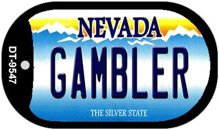 Gambler Nevada Novelty Metal Dog Tag Necklace DT-9547