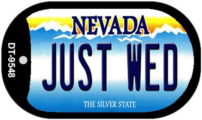 Just Wed Nevada Novelty Metal Dog Tag Necklace DT-9548