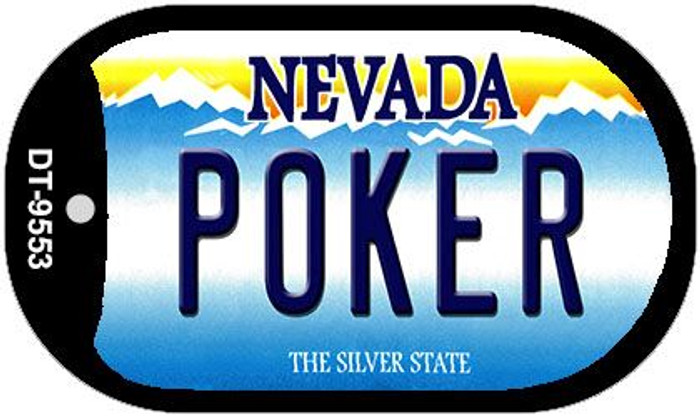 Poker Nevada Novelty Metal Dog Tag Necklace DT-9553