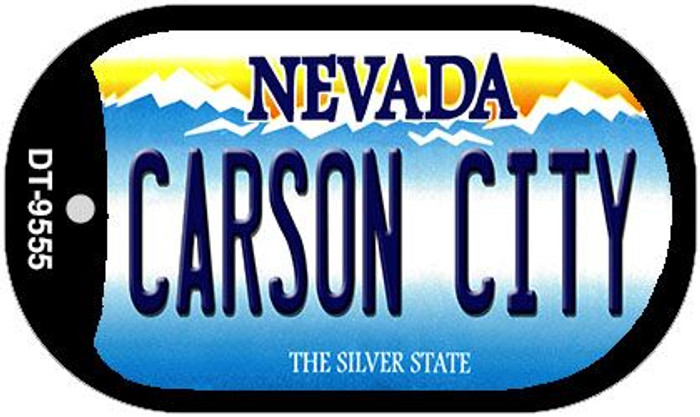 Carson City Nevada Novelty Metal Dog Tag Necklace DT-9555