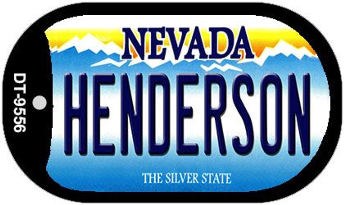 Henderson Nevada Novelty Metal Dog Tag Necklace DT-9556
