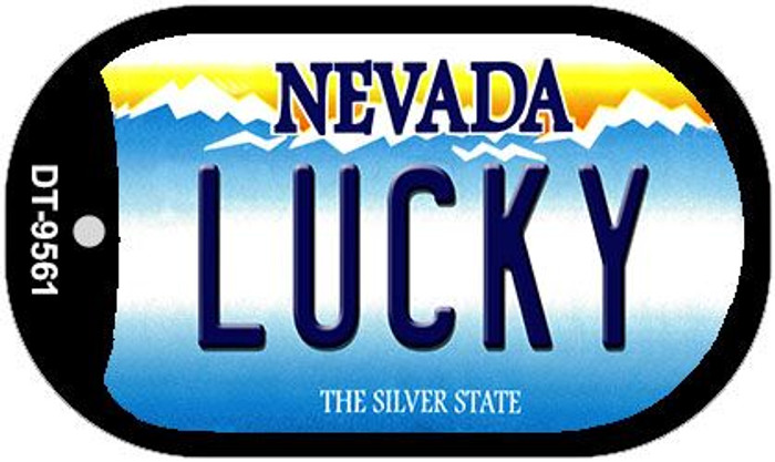 Lucky Nevada Novelty Metal Dog Tag Necklace DT-9561