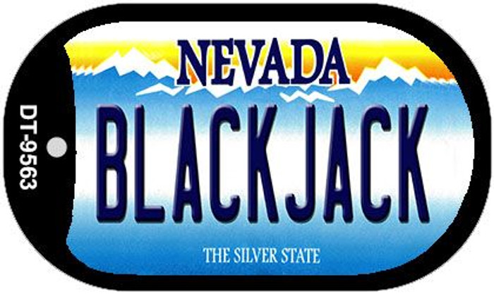 Blackjack Nevada Novelty Metal Dog Tag Necklace DT-9563