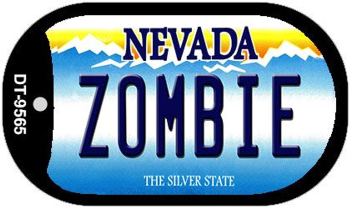 Zombie Nevada Novelty Metal Dog Tag Necklace DT-9565