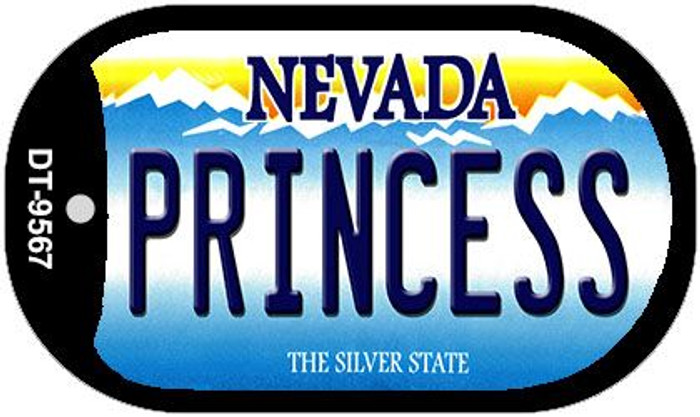 Princess Nevada Novelty Metal Dog Tag Necklace DT-9567