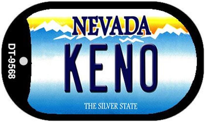 Keno Nevada Novelty Metal Dog Tag Necklace DT-9568