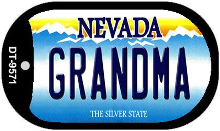 Grandma Nevada Novelty Metal Dog Tag Necklace DT-9571