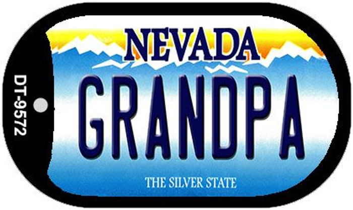 Grandpa Nevada Novelty Metal Dog Tag Necklace DT-9572