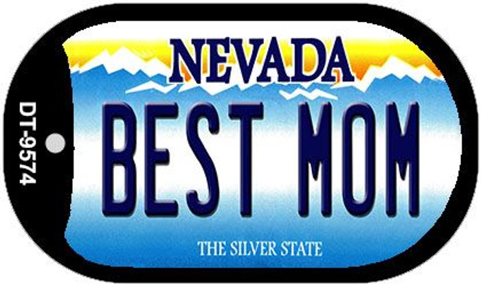 Best Mom Nevada Novelty Metal Dog Tag Necklace DT-9574