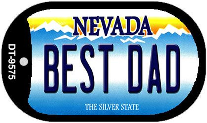 Best Dad Nevada Novelty Metal Dog Tag Necklace DT-9575