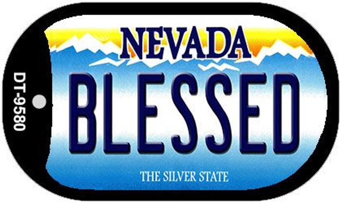 Blessed Nevada Novelty Metal Dog Tag Necklace DT-9580