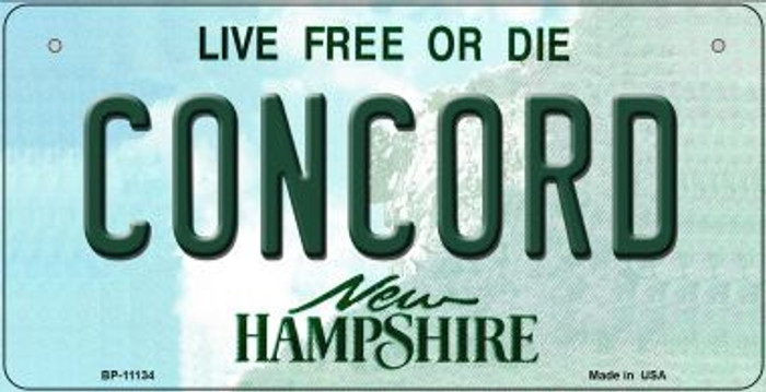 Concord New Hampshire Novelty Metal Bicycle Plate BP-11134