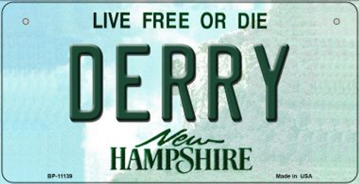 Derry New Hampshire Novelty Metal Bicycle Plate BP-11139