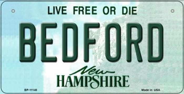 Bedford New Hampshire Novelty Metal Bicycle Plate BP-11140