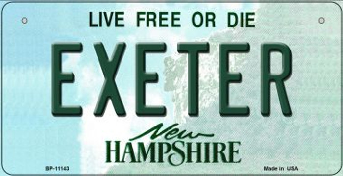 Exeter New Hampshire Novelty Metal Bicycle Plate BP-11143