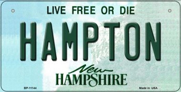 Hampton New Hampshire Novelty Metal Bicycle Plate BP-11144