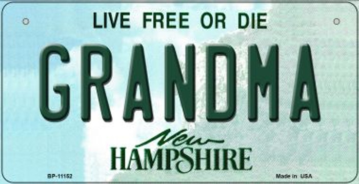 Grandma New Hampshire Novelty Metal Bicycle Plate BP-11152