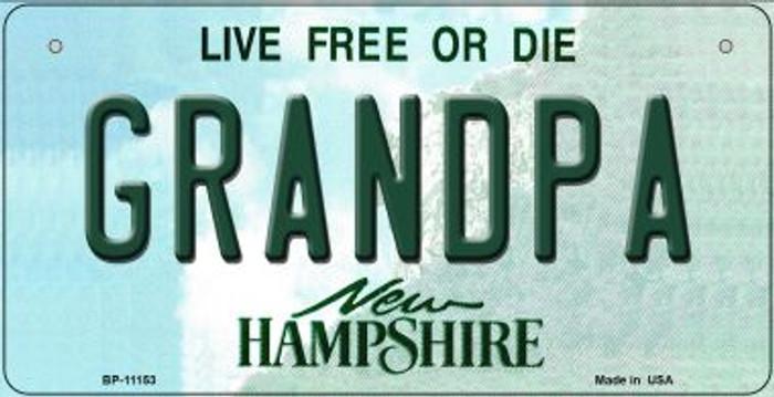 Grandpa New Hampshire Novelty Metal Bicycle Plate BP-11153