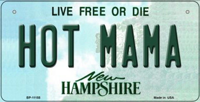 Hot Mama New Hampshire Novelty Metal Bicycle Plate BP-11155