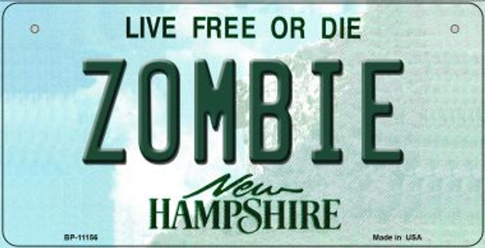 Zombie New Hampshire Novelty Metal Bicycle Plate BP-11156