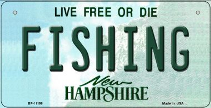 Fishing New Hampshire Novelty Metal Bicycle Plate BP-11159