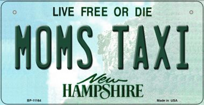 Moms Taxi New Hampshire Novelty Metal Bicycle Plate BP-11164