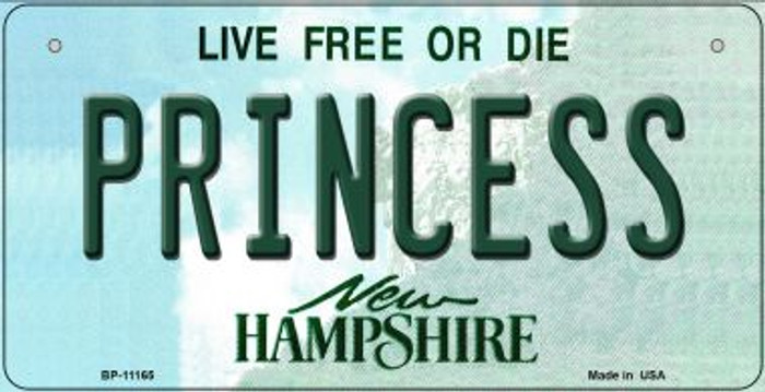 Princess New Hampshire Novelty Metal Bicycle Plate BP-11165