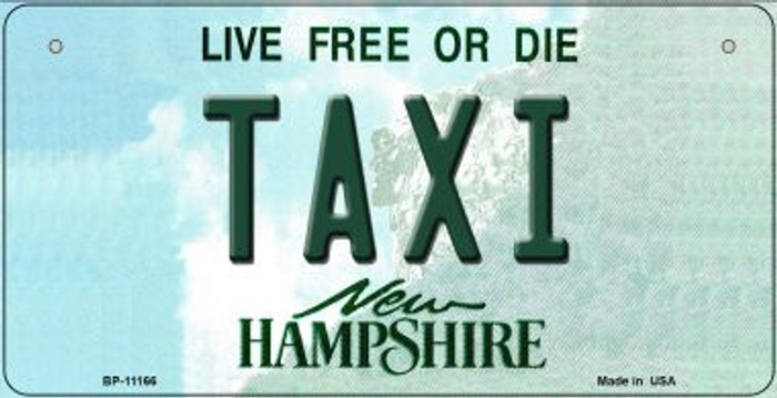 Taxi New Hampshire Novelty Metal Bicycle Plate BP-11166