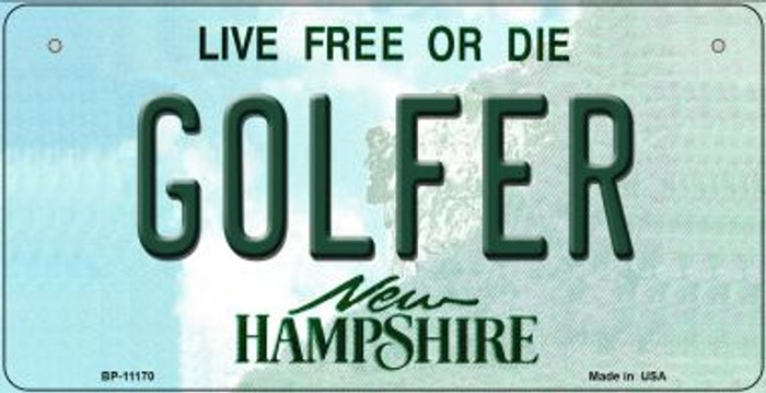 Golfer New Hampshire Novelty Metal Bicycle Plate BP-11170