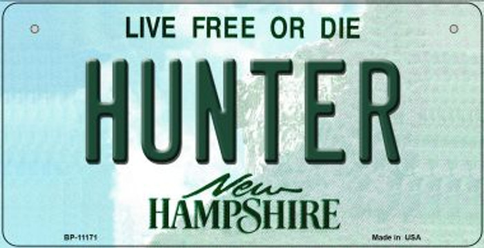 Hunter New Hampshire Novelty Metal Bicycle Plate BP-11171