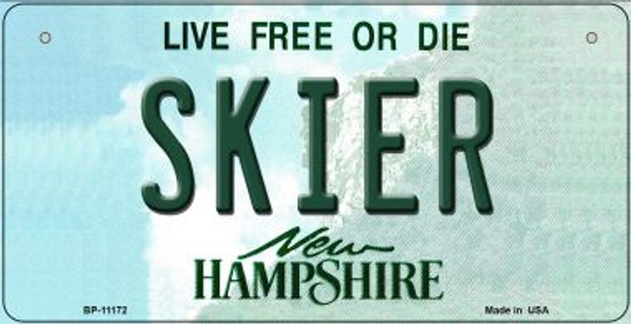Skier New Hampshire Novelty Metal Bicycle Plate BP-11172