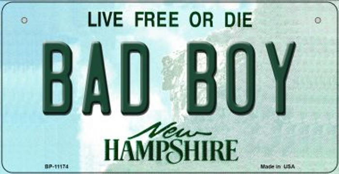 Bad Boy New Hampshire Novelty Metal Bicycle Plate BP-11174
