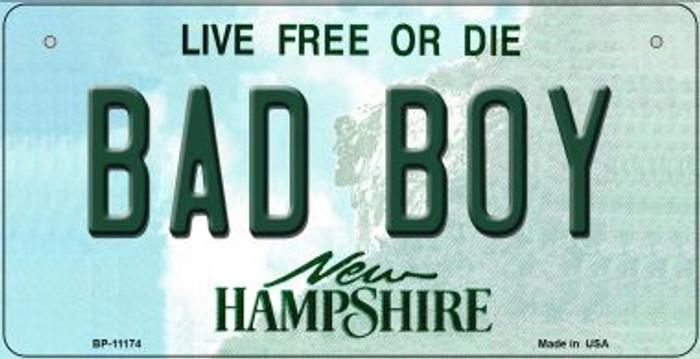 Bad Boy New Hampshire Novelty Metal Bicycle Plate BP-11174