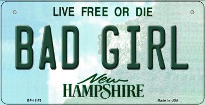 Bad Girl New Hampshire Novelty Metal Bicycle Plate BP-11175