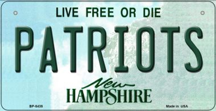 Patriots New Hampshire Novelty Metal Bicycle Plate BP-5435