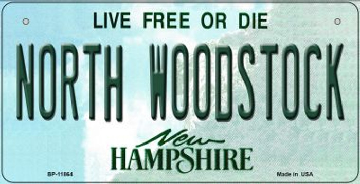North Woodstock New Hampshire Novelty Metal Bicycle Plate BP-11864