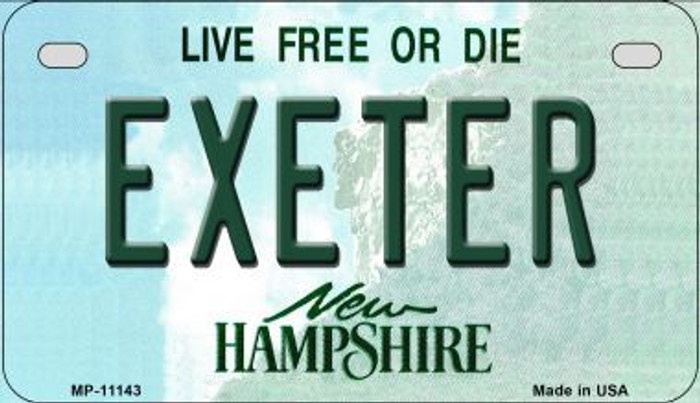 Exeter New Hampshire Novelty Metal Motorcycle Plate MP-11143