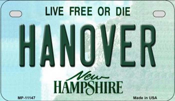 Hanover New Hampshire Novelty Metal Motorcycle Plate MP-11147